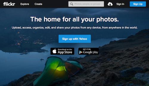 Flickrアカウント登録