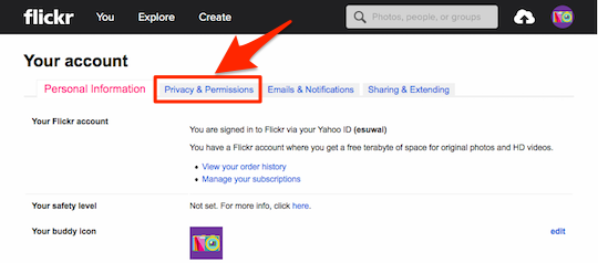 Flickr_Your_account