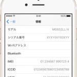 【iOS】iPhoneのIMEIおよびシリアル番号を確認する方法