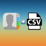 【iCloud】iCloudの連絡先をCSVファイルにエクスポートする方法