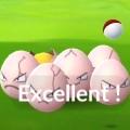 【ポケモンGO】エクセレントスロー+カーブボールで210XPゲット! タマタマです。