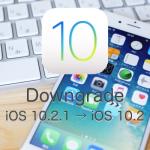iOS 10.2.1をiOS 10.2にダウングレードする方法