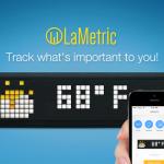 LaMetric Timeはニュースやスポーツ、天気、ラジオ、そしてSNSなどの情報をWi-Fi経由で表示できるスマートクロック。