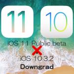 iOS 11パブリックベータ版を直接iOS 10.3.2にダウングレードできないの?で、試してみました。