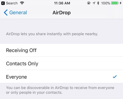 how to change airdrop name ios 11