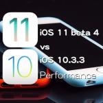 iOS 11 Beta 4 vs iOS 10.3.3 スピード比較テスト【Video】