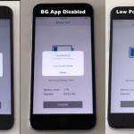 バッテリーの寿命をiOS 10.3.3標準、低電力、Appのバックグラウンド更新の3つのモードでテスト【Video】