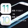 iOS 11.0.1 vs iOS 10.3.3 スピード比較テスト【Video】