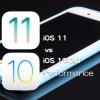 iOS 11 vs iOS 10.3.3 スピード比較テスト【Video】