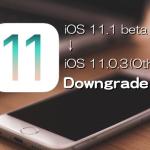 【iPhone & iPad】iOS 11.1 ベータをiOS 11.0.3(またはiOS 11.0.2、iOS 11.0.1)あるいはiOS 10.3.3にダウングレードする方法