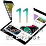 Apple、iOS 11.0.1とiOS 11.0.2、iOS 11.0.3の署名(SHSH)発行を停止しました。ダウングレードが不可能に