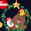 【LINE】LINEがクリスマス限定仕様になってるよ!背景に雪が降ったり、クリスマス仕様のブラウンたちが現れるエフェクトも!