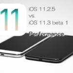 iOS 11.3 Beta 1 vs iOS 11.2.5 スピード比較テスト【Video】
