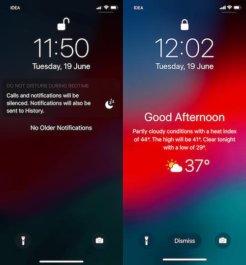Ios 12 Iphoneのロック画面に目覚めた時に天気ウィジェットを表示する方法 Moshbox