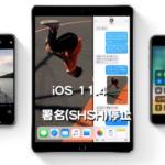 Apple、iOS 11.4の署名(SHSH)発行を停止。iOS 11.4.1のみがダウングレード&インストールできる唯一のファームウェアに