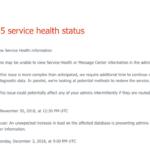 現在、MicrosoftのOffice 365サービスで「サービスの稼働状態を正常に表示できない」障害が発生しています。